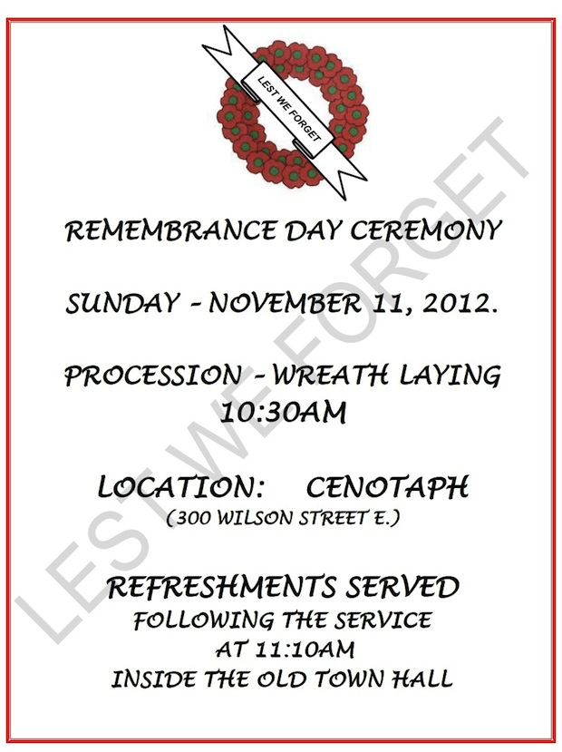 Remembrance Day Ancaster Com